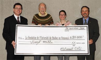 <br /> Jean Boileau, Ernest Côté, Charmain Levy et Richard Roy