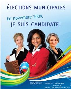 En novembre 2009, je suis candidate!