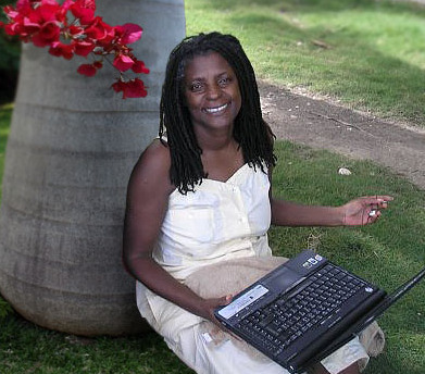 Magalie Marcelin à Jacmel en septembre 2009
