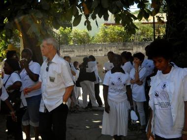 À la marche commémorative du 12 janvier 2011