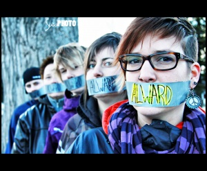 Action de protestation du groupe de jeunes RebElles