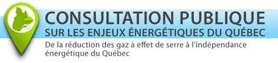 Consultation sur les enjeux énergétiques du Québec