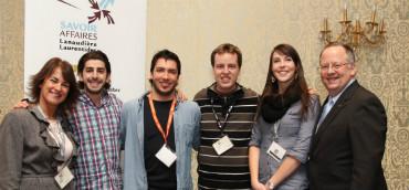 Les étudiant-es de l'UQO ayant participé à la semaine Savoir Affaires Lanaudière-Laurentides