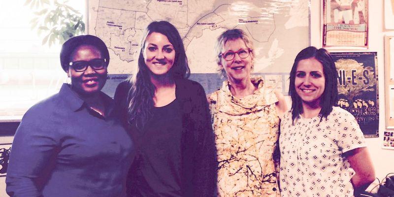 De gauche à droite: Nérita Douvi, Carine Cascaro, Denyse Côté, Viviane Blanchette