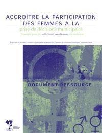 Accroître la participation des femmes à la prise de décisions municipales