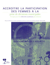 Accroître la participation des femmes à la prise de décisions
