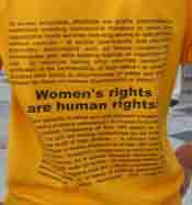 Women's rights are human's rights!